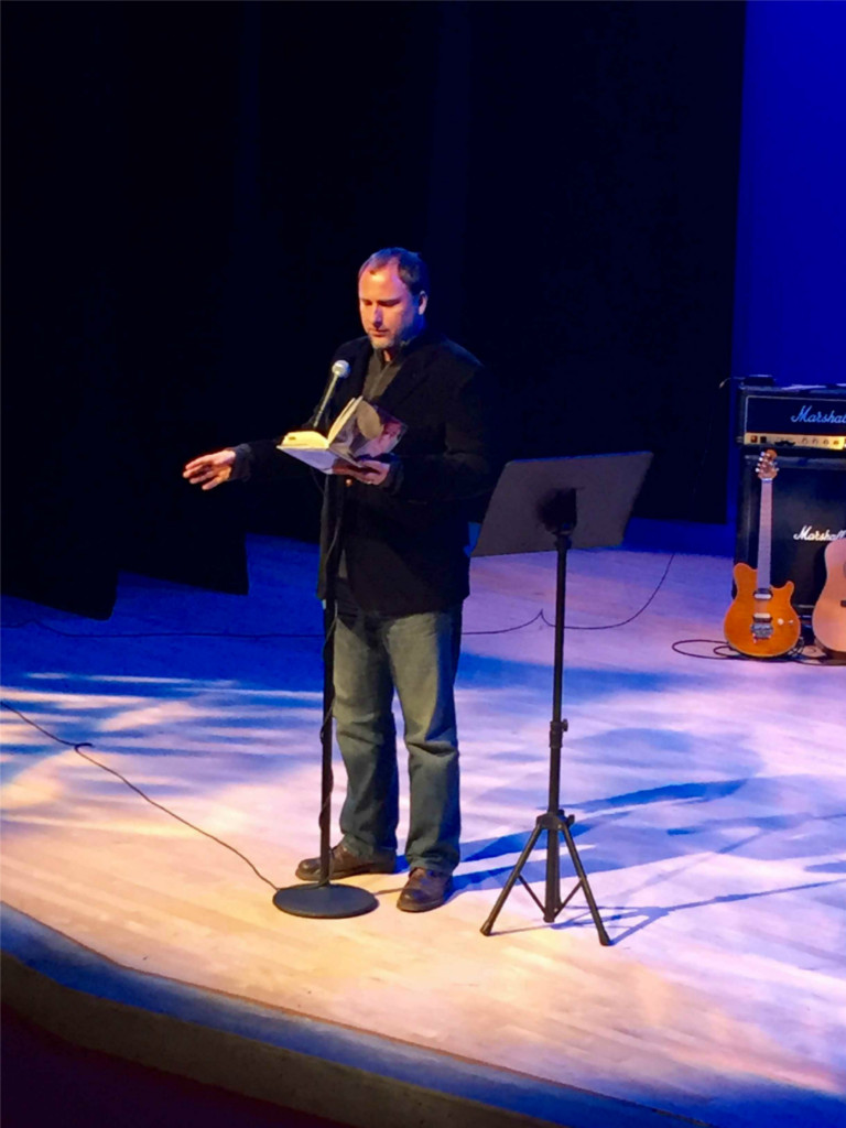 Reading from Caligulan at the Venice Island Performing Arts Center.